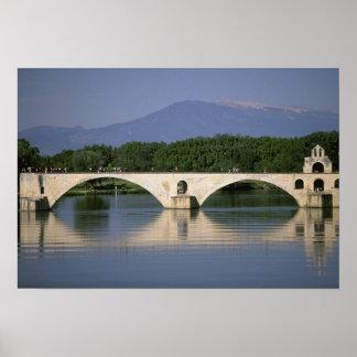 Europe, France, Provence, Avignon. Pont St, Poster