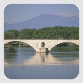 Europe, France, Provence, Avignon. Pont St, Square Sticker