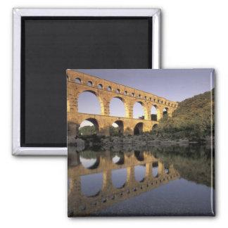 Europe, France, Provence, Gard; Pont du Gard, 2 Inch Square Magnet