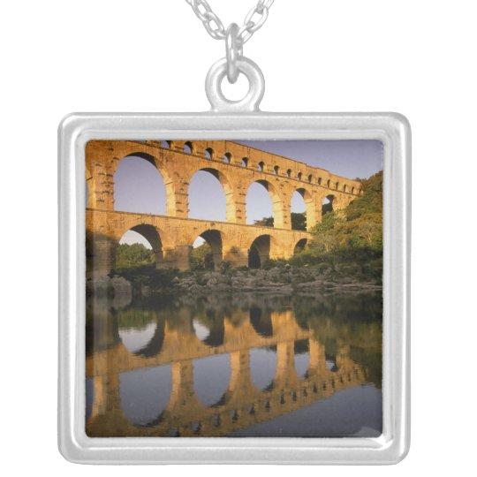 Europe, France, Provence, Gard. Pont du Gard, Silver Plated Necklace