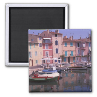 Europe, France, Provence, Martigues. Mirror of 2 Inch Square Magnet