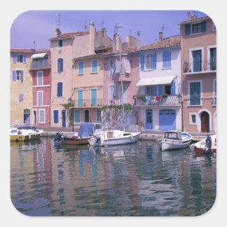 Europe, France, Provence, Martiques, Miroir Square Sticker