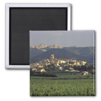 Europe, France, Provence, Vaucluse, SSablet, 2 Inch Square Magnet