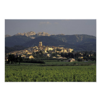 Europe, France, Provence, Vaucluse, SSablet, Poster