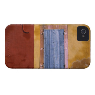 Europe, France, Roussillon. Blue shutters iPhone 4 Case