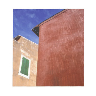 Europe, France, Roussillon. Colorful walls are Scratch Pads