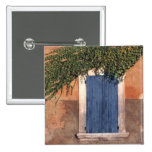 Europe, France, Roussillon. Ivy covers the wall 2 Inch Square Button