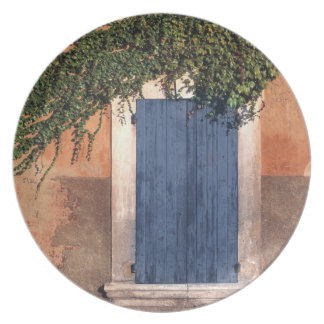 Europe, France, Roussillon. Ivy covers the wall Melamine Plate