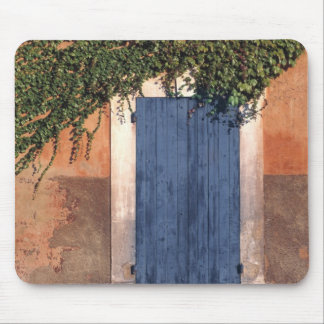Europe, France, Roussillon. Ivy covers the wall Mouse Pad