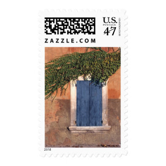 Europe, France, Roussillon. Ivy covers the wall Postage