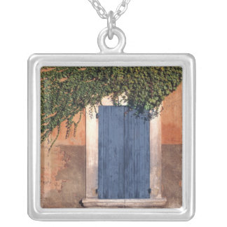 Europe, France, Roussillon. Ivy covers the wall Silver Plated Necklace