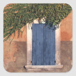 Europe, France, Roussillon. Ivy covers the wall Square Sticker
