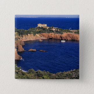 Europe, France, Theoule-sur-Mer. A tile-roofed Button