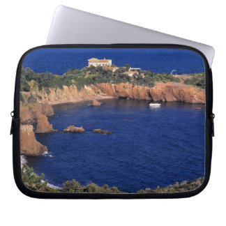 Europe, France, Theoule-sur-Mer. A tile-roofed Laptop Sleeve