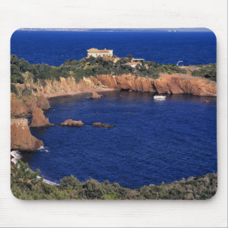 Europe, France, Theoule-sur-Mer. A tile-roofed Mouse Pad