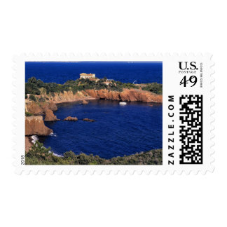 Europe, France, Theoule-sur-Mer. A tile-roofed Postage