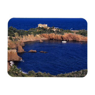 Europe, France, Theoule-sur-Mer. A tile-roofed Rectangular Photo Magnet