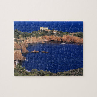 Europe, France, Theoule-sur-Mer. A tile-roofed Jigsaw Puzzles