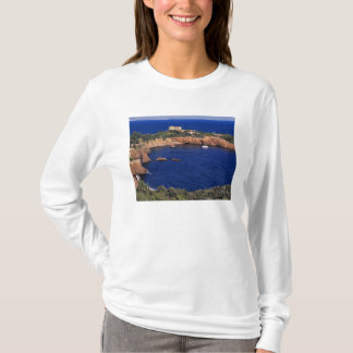 Europe, France, Theoule-sur-Mer. A tile-roofed T-Shirt