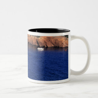 Europe, France, Theoule-sur-Mer. A tile-roofed Two-Tone Coffee Mug
