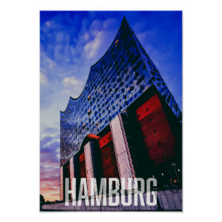 Europe Germany Hamburg City Poster