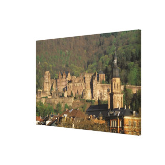 Europe, Germany, Heidelberg. Castle Canvas Print
