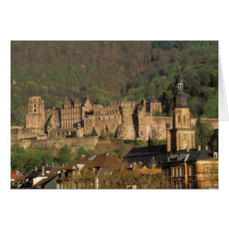 Europe, Germany, Heidelberg. Castle Card