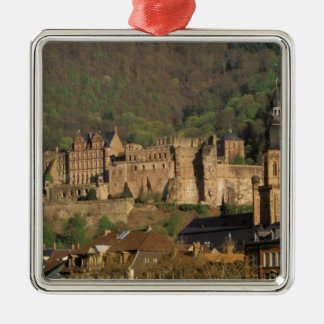 Europe, Germany, Heidelberg. Castle Square Metal Christmas Ornament