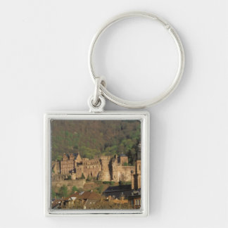 Europe, Germany, Heidelberg. Castle Silver-Colored Square Keychain
