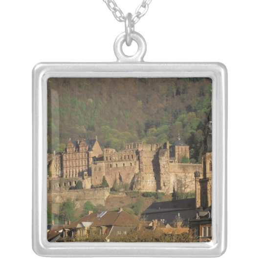 Europe, Germany, Heidelberg. Castle Silver Plated Necklace