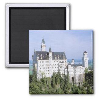 Europe, Germany, Neuschwanstein Castle, built 2 Inch Square Magnet