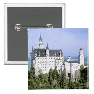 Europe, Germany, Neuschwanstein Castle, built Pinback Buttons
