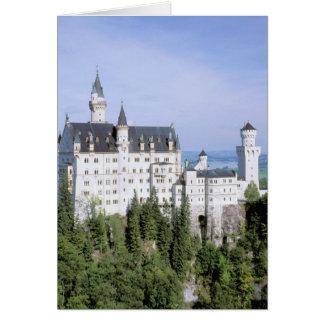 Europe, Germany, Neuschwanstein Castle, built Card