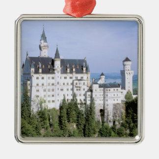 Europe, Germany, Neuschwanstein Castle, built Metal Ornament