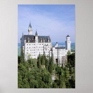 Europe, Germany, Neuschwanstein Castle, built Poster