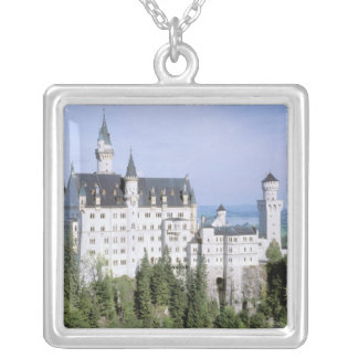 Europe, Germany, Neuschwanstein Castle, built Silver Plated Necklace
