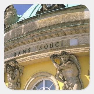Europe, Germany, Potsdam. Park Sanssouci, Square Sticker