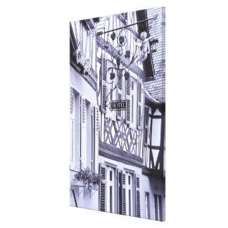 Europe, Germany, Rhineland, Pfalz, Boppard. Half Canvas Print