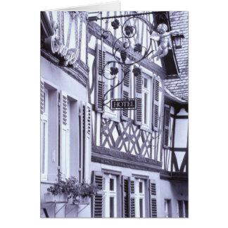 Europe, Germany, Rhineland, Pfalz, Boppard. Half Card