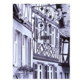 Europe, Germany, Rhineland, Pfalz, Boppard. Half Postcard