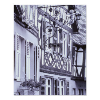 Europe, Germany, Rhineland, Pfalz, Boppard. Half Poster