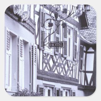 Europe, Germany, Rhineland, Pfalz, Boppard. Half Square Sticker