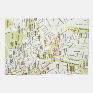 Europe Greece Athens city map kitchen towel