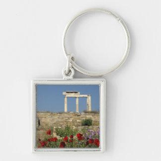 Europe, Greece, Cyclades, Delos. Column ruins. Keychain