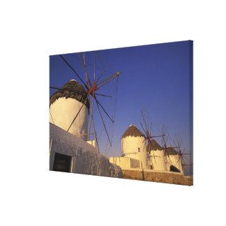 Europe, Greece, Cyclades Islands, Mykonos, 2 Canvas Print