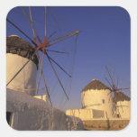 Europe, Greece, Cyclades Islands, Mykonos, 2 Square Sticker