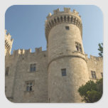 Europe, Greece, Dodecanese Islands, Rhodes: Square Sticker