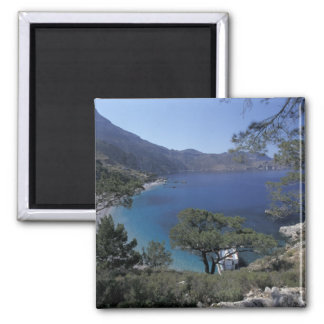 Europe, Greece, Karpathos, Dodecanese; Apella 2 Inch Square Magnet