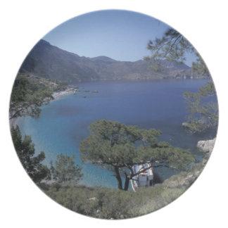 Europe, Greece, Karpathos, Dodecanese; Apella Party Plates