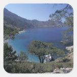 Europe, Greece, Karpathos, Dodecanese; Apella Square Stickers